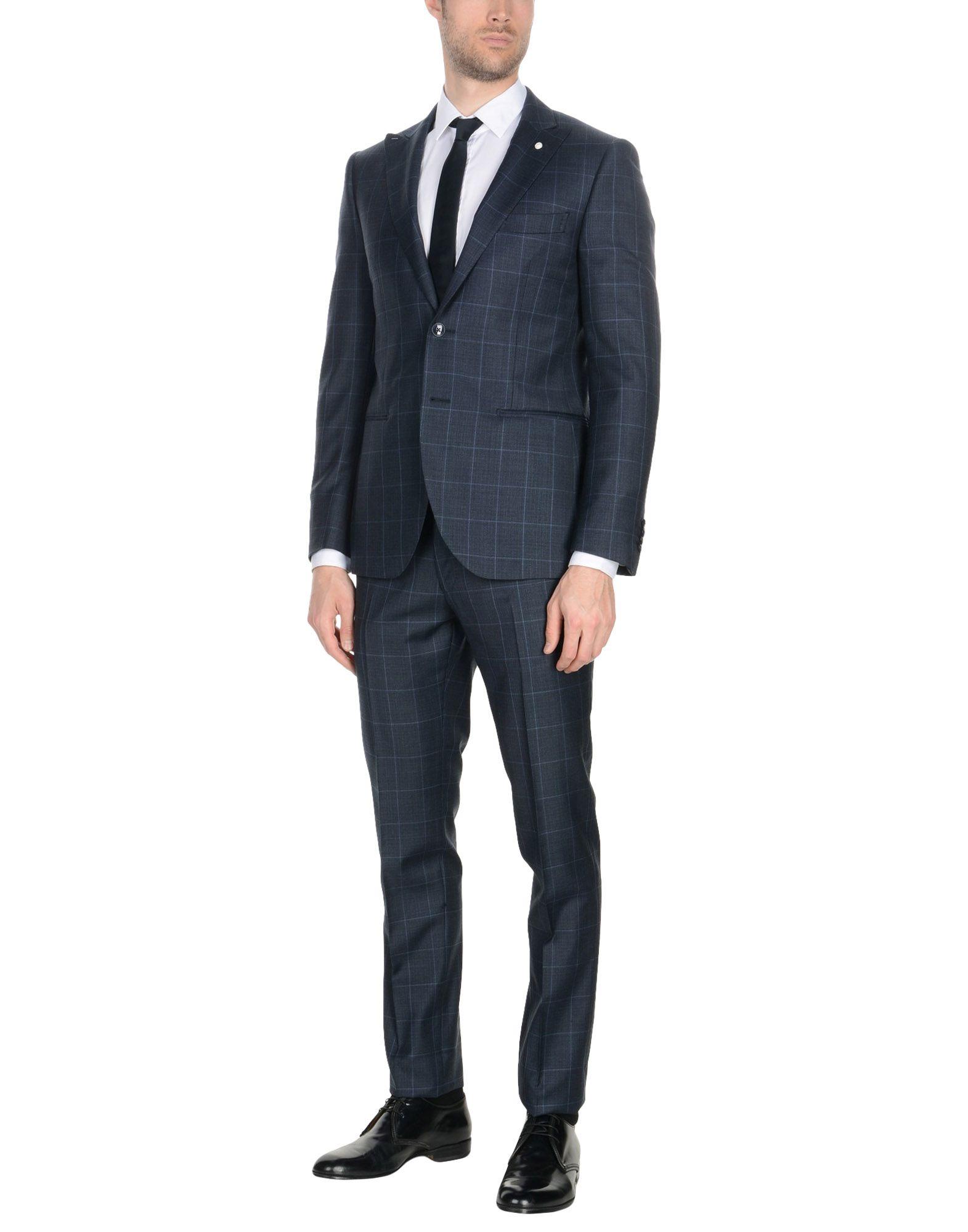《送料無料》LUIGI BIANCHI Mantova メンズ スーツ ダークブルー 48 スーパー130 ウール 100%