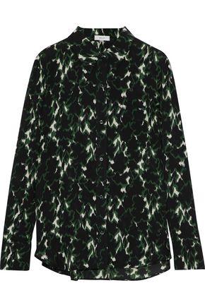 A.L.C. Printed silk crepe de chine shirt