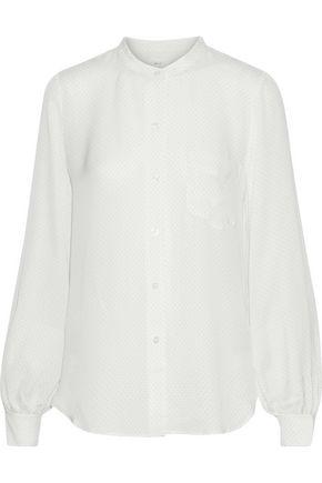 A.L.C. Polka-dot silk crepe de chine blouse
