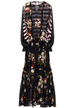 PREEN LINE Zadie draped printed chiffon maxi dress