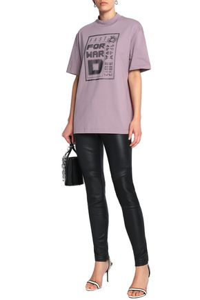 ALEXANDER WANG Appliquéd cotton-jersey T-shirt