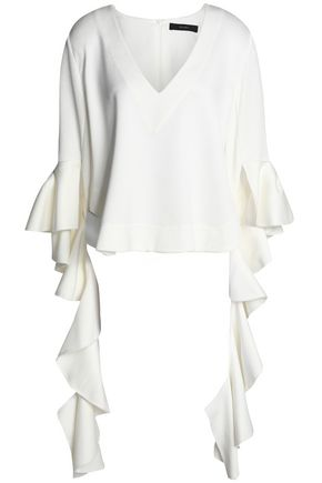 ELLERY Ruffled silk crepe de chine blouse