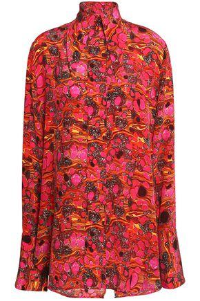 ELLERY Pussy-bow printed silk shirt