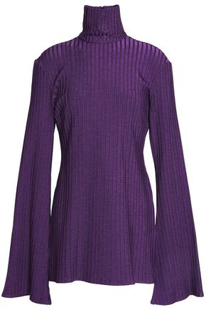 ELLERY Ribbed-knit turtleneck top