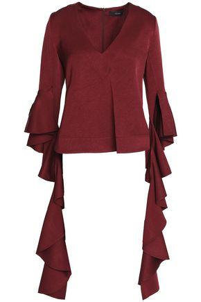 ELLERY Ruffled silk crepe de chine blouse