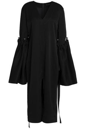 ELLERY Split-front embellished crepe midi dress