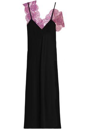 ELLERY Corded lace-trimmed satin-crepe midi dress
