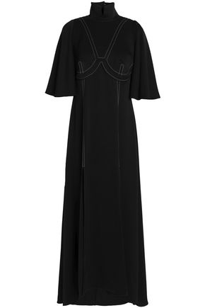 ELLERY Cutout satin-crepe midi dress