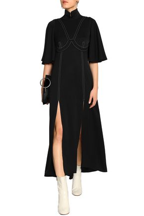 Ellery Woman Cold-shoulder Twill Mini Dress Black Size 14 Ellery lb3exZ