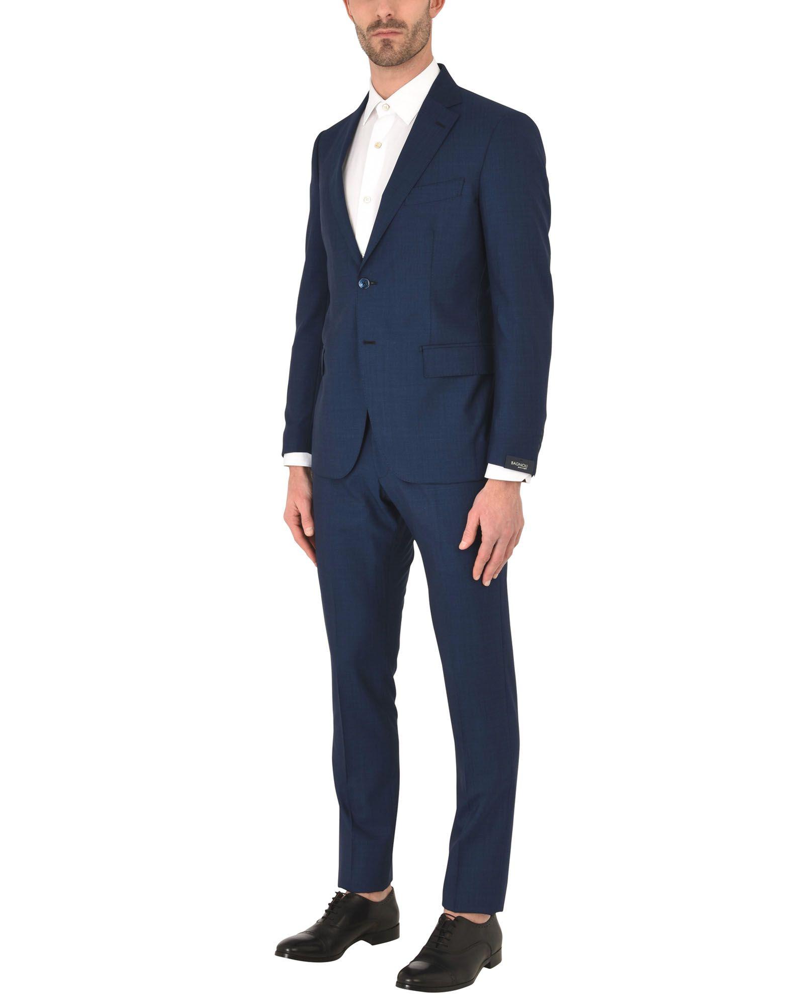 《送料無料》BAGNOLI Sartoria Napoli メンズ スーツ ダークブルー 54 ウール 100%