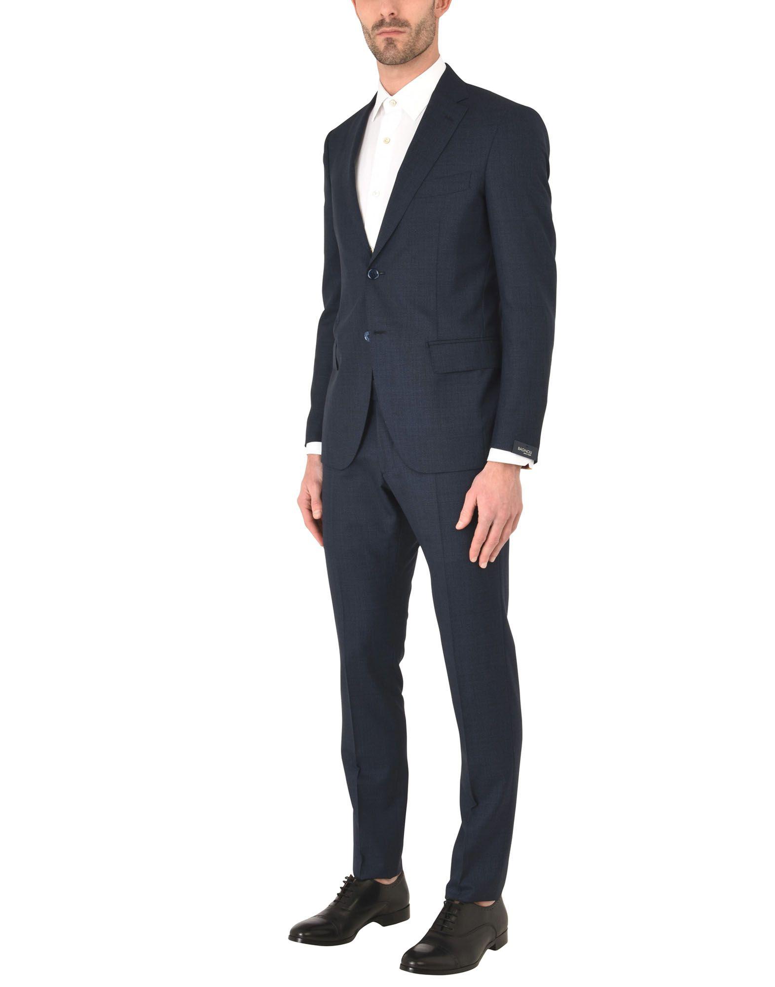 《送料無料》BAGNOLI Sartoria Napoli メンズ スーツ ダークブルー 56 ウール 100%