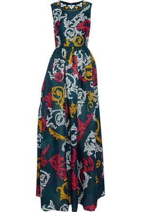 MARY KATRANTZOU Shaw printed moire silk-organza gown