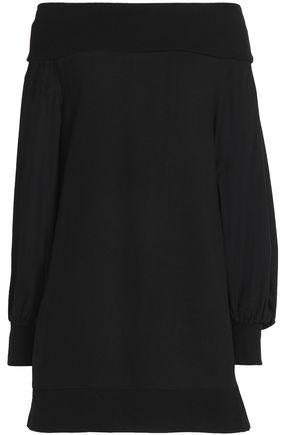 GOEN.J Off-the-shoulder cotton-poplin mini dress