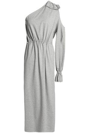 GOEN.J One-shoulder cutout cotton-jersey dress