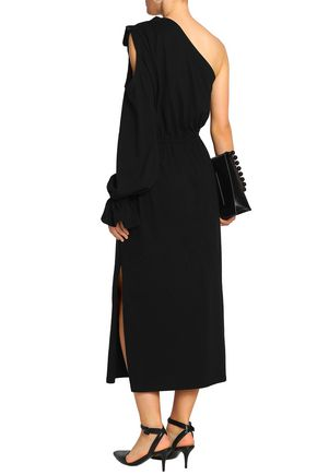 GOEN.J One-shoulder cutout cotton-jersey midi dress