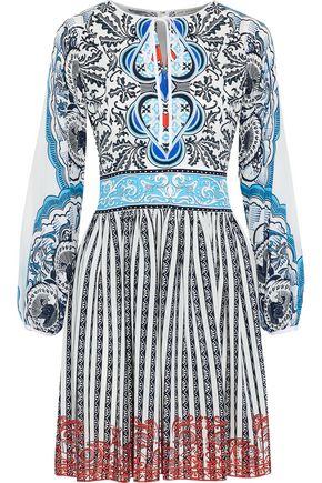 MARY KATRANTZOU Lucie printed silk crepe de chine mini dress