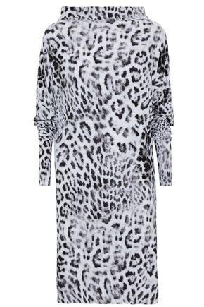 NORMA KAMALI All In One leopard-print scuba dress