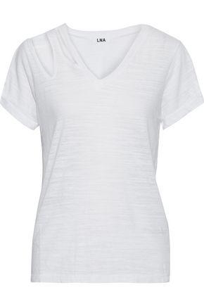 LNA Pine cutout slub jersey T-shirt