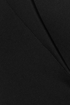 ROLAND MOURET Brattle one-shoulder stretch-knit dress
