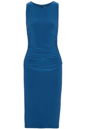 NORMA KAMALI Ruched stretch-knit dress