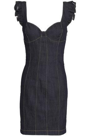 8fe9fd2e15 CINQ À SEPT Mathis ruffle-trimmed denim mini dress