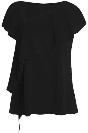 GOEN.J Asymmetric ruffled crepe blouse