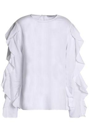 GOEN.J Ruffled cotton-gauze top