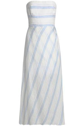 GÜL HÜRGEL Strapless striped linen midi dress