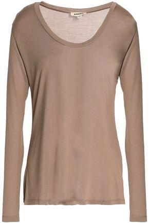 L'AGENCE Slub modal-jersey T-shirt