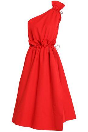 GOEN.J One-shoulder cotton-poplin midi dress