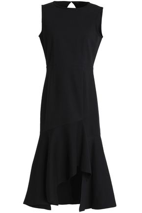 GOEN.J Open-back asymmetric cotton dress