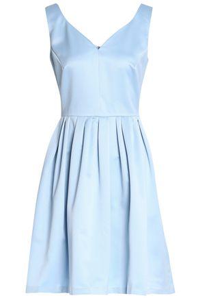 RAOUL Pleated satin mini dress