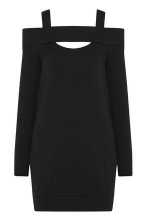 BAILEY 44 Cold-shoulder cutout stretch-modal fleece mini dress