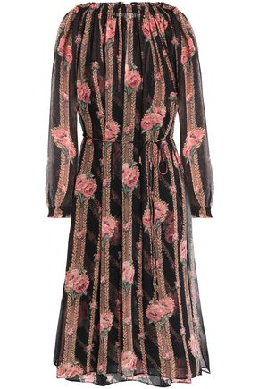 NEEDLE & THREAD Floral-print chiffon dress