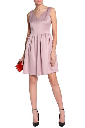 b10794d40bc652 RAOUL Pleated satin-crepe mini dress