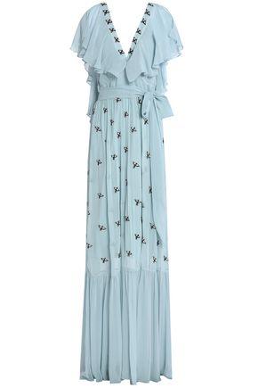 TEMPERLEY LONDON Ruffled embellished georgette gown