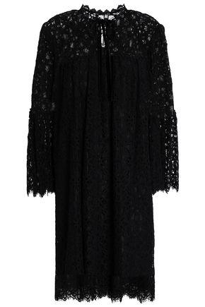 TEMPERLEY LONDON Velvet-trimmed guipure lace mini dress