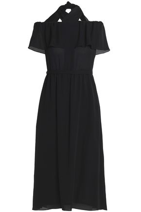 VANESSA SEWARD Off-the-shoulder ruffled silk crepe de chine midi dress
