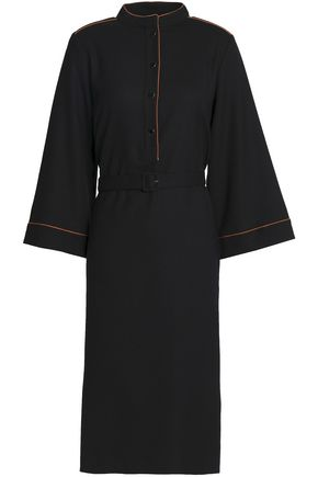 VANESSA SEWARD Belted stretch wool-crepe dress