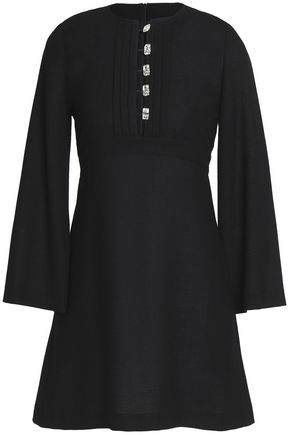 VANESSA SEWARD Embellished wool-crepe mini dress