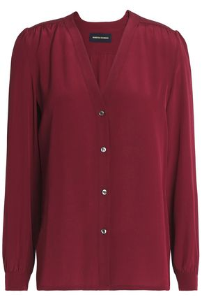 VANESSA SEWARD Gathered silk crepe de chine blouse