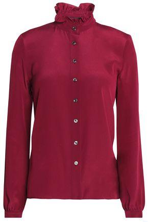 VANESSA SEWARD Ruffle-trimmed silk shirt