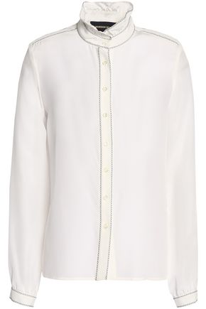 VANESSA SEWARD Embroidered silk crepe de chine shirt