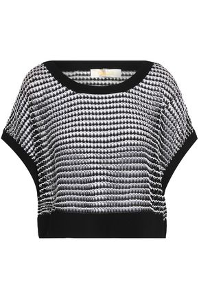 DIANE VON FURSTENBERG Cropped pointelle-knit top