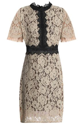 RAOUL Corded lace mini dress
