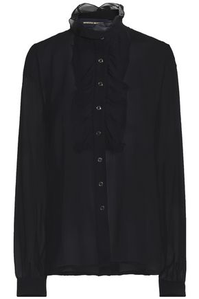 VANESSA SEWARD Ruffled silk-chiffon shirt