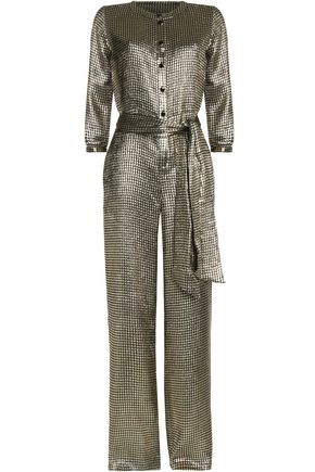 VANESSA SEWARD Elton metallic silk-blend jacquard jumpsuit