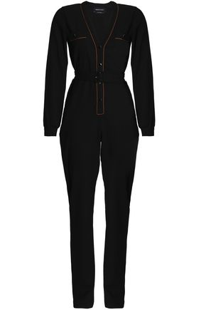 VANESSA SEWARD Belted wool-blend crepe jumpsuit