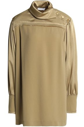 SONIA RYKIEL Button-detailed crepe blouse
