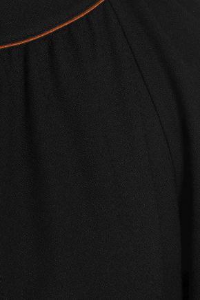 VANESSA SEWARD Cutout wool-blend crepe mini dress